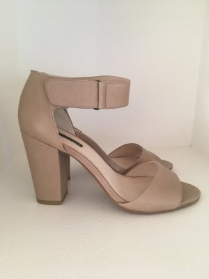 Belmondo Strapped High-Heeled Sandals green grey leather