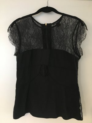 Sexy Black Lace Short-Sleeve