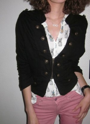 Jersey Blazer negro-color bronce