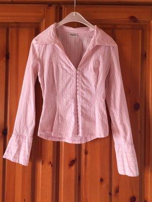 Sexy Bluse rosa mit Glitzer Nadelstreifen von pimkie
