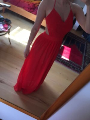 Sexy Bodenlanges Kleid mit überkreuzten Rückenträgern