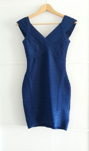 Sexy Bodycon Bandage Mini Kleid Dress Stretchkleid blau Gr. S 36