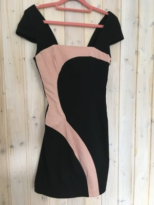 Vestido de tubo negro-rosa claro
