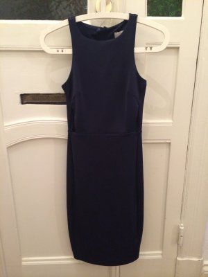 Sexy Bodycon Dress von H&M in Dunkelblau Etui-Kleid mit Cutouts