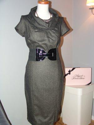 Zara Robe fourreau gris-gris anthracite laine
