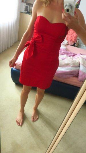 Sexy Bustier - Kleid in rot, schulterfrei