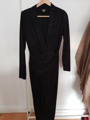 Sexy Cocktail-Kleid schwarz Glitzer