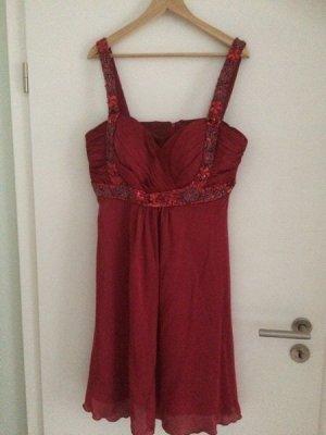 Cocktail Dress red-dark red