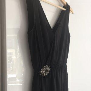 Sexy Cocktailkleid Kleid kleines Schwarzes Party mit tiefem V-Ausschnitt schwarz