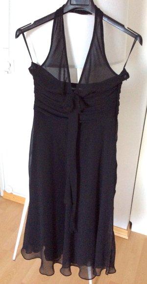 Zara Robe de cocktail noir mousseline de soie