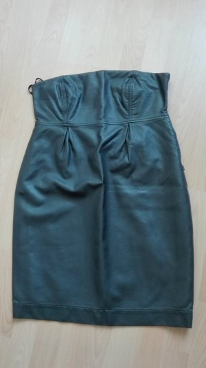 Pull & Bear Leather Dress anthracite