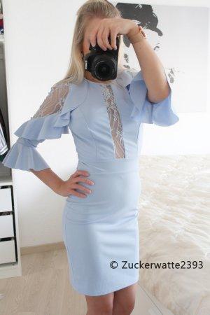 Sexy Cut Out Kleid pastellblau 34/XS <3