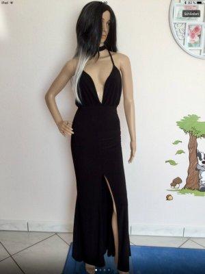 Sexy Damen Streich Maxi- Kleid Schwarz von Boohoo Gr.36