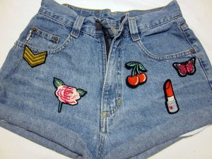 Angels Denim Shorts multicolored cotton