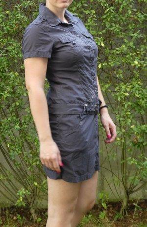 Sexy dunkelgraues Hemdblusenkleid von s.Oliver in 36 im Military-Style