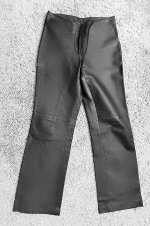Sexy Echtlederhose in schwarz