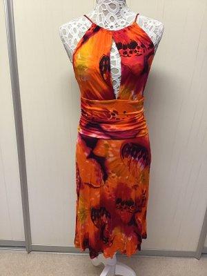 Escada Vestido de cuello Halter multicolor