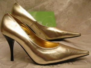 Sexy Glamour High Heels Gold Pumps Größe 36