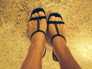 Unisa Strapped High-Heeled Sandals black