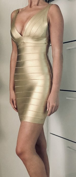 sexy gold Bandage Kleid XS 34