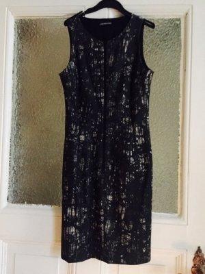 Sexy grau schwarz weißes eng anliegendes Kleid mit Reißverschluss von drykorn