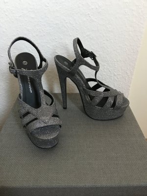 Atmosphere High Heels silver-colored-grey
