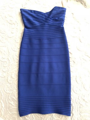 Sexy HERVE LEGER Kleid Blau Gr. M
