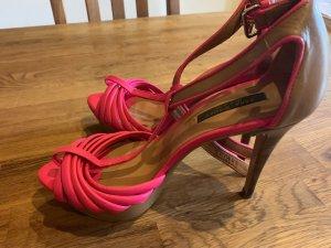Zara Platform High-Heeled Sandal multicolored