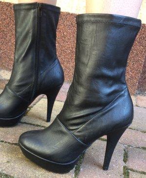Sexy High Heels Stiefelette Gr 37 schwarz