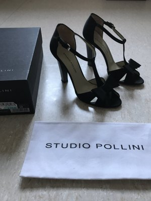Sexy High Heels von Studio Pollini aus Satin mit Originalkarton & Staubbeutel