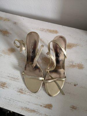 Aldo Hoge hakken sandalen goud