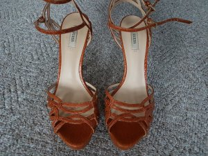 Guess High Heel Sandal brown leather