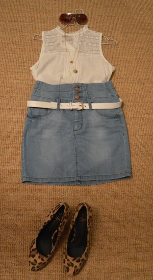 Sexy Highwaist Mini Jeansrock Only Gr. 28
