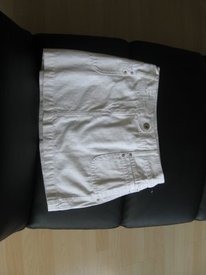 Sexy Jeansrock in weiß