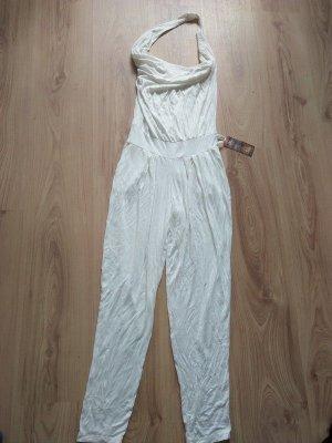 Vestido de cuello Halter blanco Viscosa