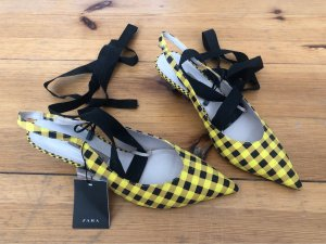 Zara Strapped Sandals yellow-black