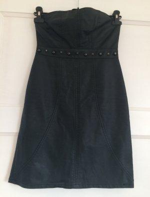 Amisu Mini-jurk zwart Polyurethaan