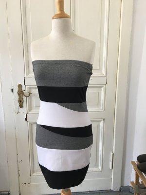 Sexy Kleid in schwarz grau weiß