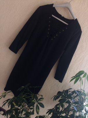 Sexy Kleid schwarz Wildleder Optik