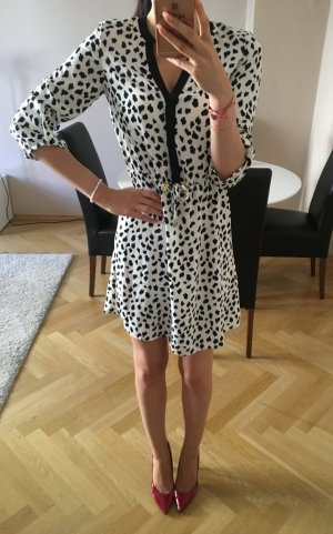 H&M Midi Dress black-white