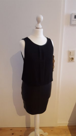 Sexy Kleid von Zara mit Lederoptik Rock