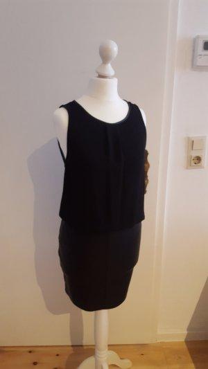 Zara Leren jurk zwart