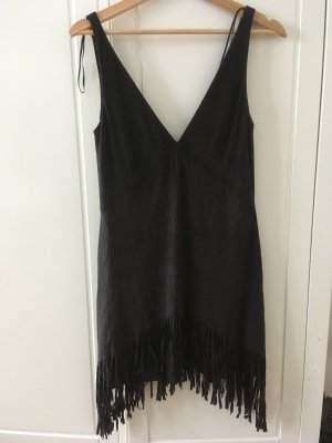 Zara Trafaluc Robe à franges noir