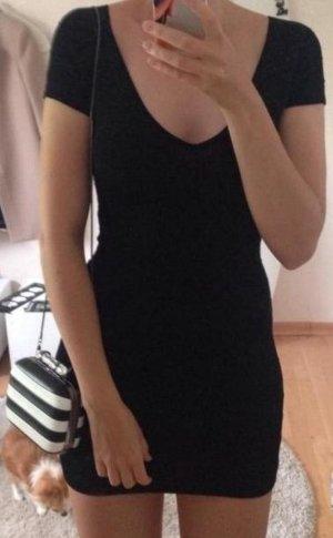 Sexy Kleines Schwarzes LBD Bandage Bodycon Minikleid Mini Kleid mit V-Ausschnitt von VILA in XS