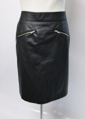 Sexy Kunstleder Rock Pencil Skirt bpc Größe M 40 Schwarz Glatt Minirock Business Basic