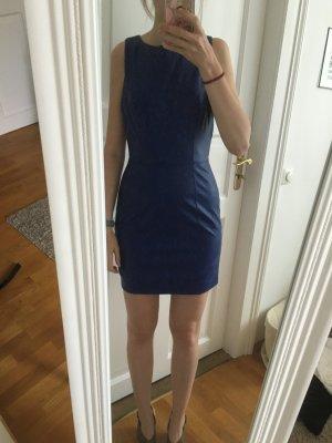 Sexy Leder Kleid in blau