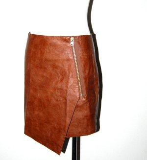 Sexy - Leder - Minirock - braun von H&M - Gr. 36
