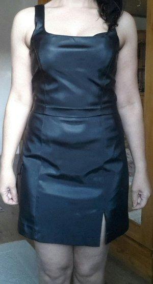Sexy, Lederimitat Kleid mit Lycra