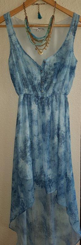 sexy - Maxi - Hippie - Boho - Strand - Kleid blau MIT KETTE Must Have!