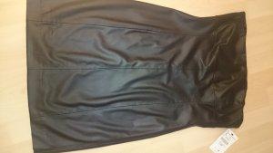 Zara Robe bustier noir-doré faux cuir